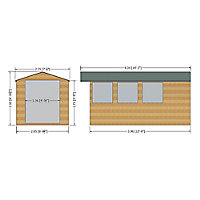 Shire Jersey 13x7 Apex Shiplap Wooden Shed
