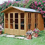 Shire Kensington 10x7 Apex Shiplap Wooden Summer house