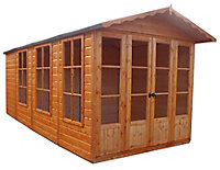 Shire Kensington 13x7 Apex Shiplap Wooden Shed - Assembly service included