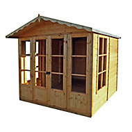 Shire Kensington 7x7 Toughened glass Apex Shiplap Wooden Summer house - Assembly service included