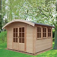 Shire Kilburn 10x14 Curved Tongue & groove Wooden Cabin - Assembly service included