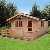 Shire Kinver 14x14 Apex Tongue & groove Wooden Cabin - Assembly service included