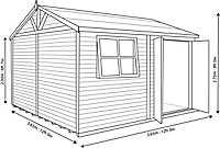 Shire Mammoth 12x12 Apex Wooden Workshop - Assembly service included