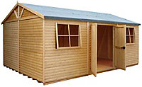 Shire Mammoth 18x12 Apex Wooden Workshop - Assembly service included