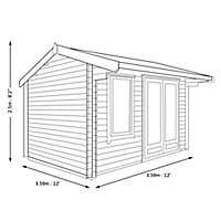 Shire Marlborough 12x12 Apex Tongue & groove Wooden Cabin - Assembly service included