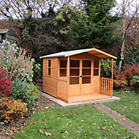 Shire Milton 8x9 Apex Shiplap Wooden Summer house - Assembly service included