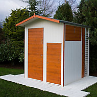 Shire Multi Store 6x6 Apex Dip treated Tongue & groove Wooden Shed with floor
