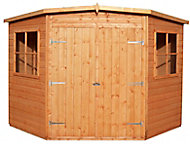Shire Murrow 8x8 Pent Dip treated Shiplap Honey brown Wooden Shed with floor