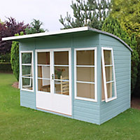 Shire Orchid curved roof 10x6 Curved Shiplap Wooden Summer house