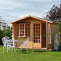 Shire Sandringham 10x6 Apex Shiplap Wooden Summer house