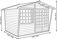 Shire Sandringham 10x8 Apex Shiplap Wooden Summer house