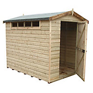 Shire Security Cabin 10x6 Apex Dip treated Shiplap Wooden Shed with floor - Assembly service included