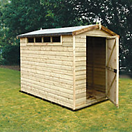 Shire Security Cabin 10x6 Apex Dip treated Shiplap Wooden Shed with floor