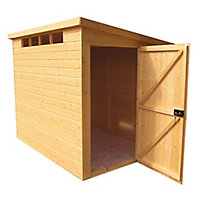 Shire Security Cabin 10x6 Pent Dip treated Shiplap Wooden Shed with floor