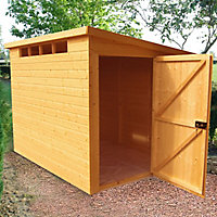 Shire Security Cabin 10x6 Pent Shiplap Wooden Shed