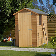 Shire Shetland 6x4 Apex Dip treated Shiplap Wooden Shed with floor (Base included) - Assembly service included