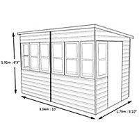 Shire Sun 10x10 Pent Shiplap Wooden Summer house