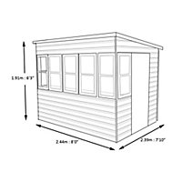 Shire Sun 8x8 Pent Shiplap Wooden Summer house