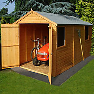 Shire Warwick 12x6 Apex Dip treated Shiplap Wooden Shed with floor