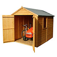 Shire Warwick 8x6 Apex Dip treated Shiplap Wooden Shed with floor