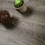 Showhome Dark Grey Wood effect Luxury vinyl click flooring, 2.86m² Pack