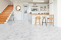Showhome White Marble effect Luxury vinyl flooring tile, 2.16m² Pack