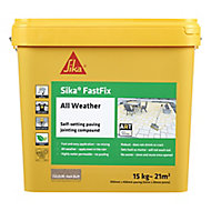 Sika FastFix Ready mixed Quick dry Dark Buff Jointing compound, 15kg Plastic tub