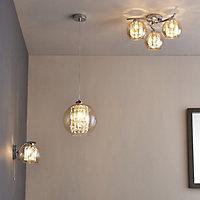 Silas Polished Chrome effect Wall light