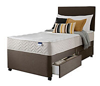 Silentnight Miracoil micro quilted 2 Drawer Single Divan set