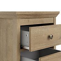 Silkeborg Matt riviera oak effect Bedside chest (H)600mm (W)478mm (D)400mm