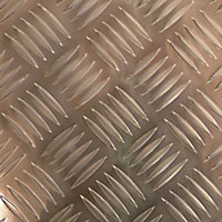 Silver effect Aluminium Embossed Sheet, (H)500mm (W)250mm (T)1.7mm