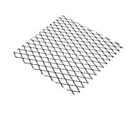 Silver effect Aluminium Perforated Sheet, (H)500mm (W)250mm (T)0.8mm