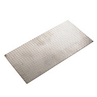 Silver effect Aluminium Textured Sheet, (H)500mm (W)250mm (T)1.7mm