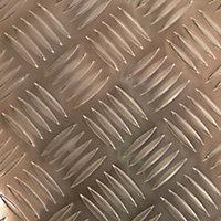 Silver effect Aluminium Textured Sheet, (H)500mm (W)250mm (T)1.7mm