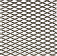 Silver effect Steel Perforated Sheet, (H)1000mm (W)500mm (T)0.5mm