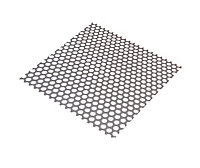 Silver effect Steel Perforated Sheet, (H)1000mm (W)500mm (T)1mm