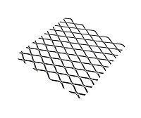 Silver effect Steel Perforated Sheet, (H)500mm (W)250mm (T)0.8mm