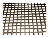 Silver effect Steel Perforated Sheet, (H)500mm (W)250mm (T)1mm