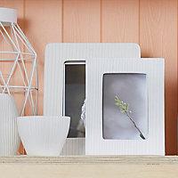 Single frame White Photo frame (W)60mm (H)210mm