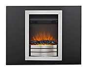 Sirocco Easton Black Chrome effect Electric Fire