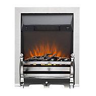 Sirocco Fairfield Black Chrome effect Electric Fire