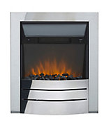 Sirocco Maine Chrome effect Electric Fire