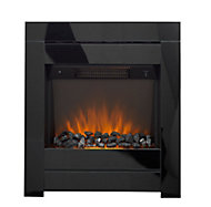 Sirocco Westerly Black Glass effect Electric Fire