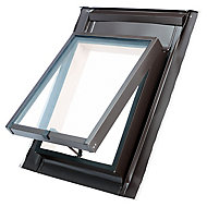 Site Anthracite Aluminium alloy Top hung Skylight, (H)550mm (W)450mm