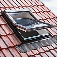 Site Anthracite Aluminium & lead Tile Flashing, (L)1.18m (W)0.78m