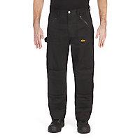 "Site Beagle Black Men's Trousers, One size W38"" L32"""