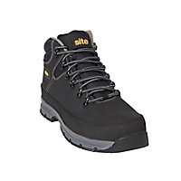 Site Bronzite Unisex Black & charcoal grey Safety boots, Size 10