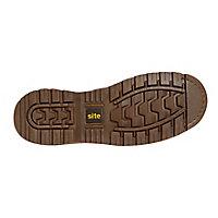 Site Brown Mudguard Dealer boots, Size 8