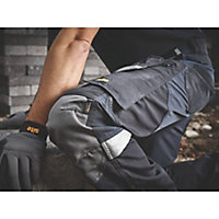 "Site Chinook Black & Grey Men's Holster pocket trousers, W34"" L32"""