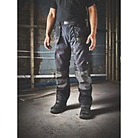 "Site Chinook Black & Grey Men's Trousers, W32"" L34"""